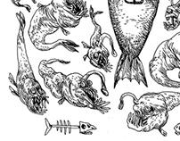 DJUPHAVSGRAV - illustrations for Ordkonst 2:2014
