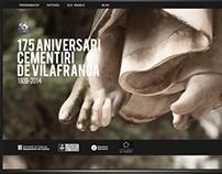 "Web ""175 aniversari cementiri de Vilafranca"""