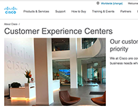 Cisco Customer Experience Webpage.