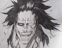 My First Attempt at drawing KENPACHI ZARAKI !