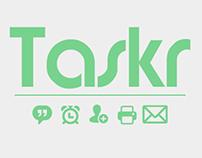 Taskr, a task management app