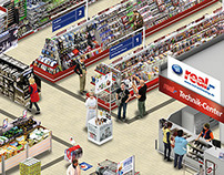 isometric supermarket photo