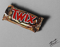 A twix bar - drawing