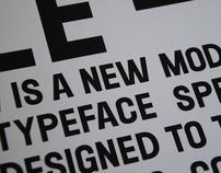 LE - typeface
