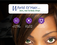 World of Hair - Landing page