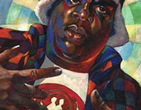 Notorious B.I.G. commission portrait. With video.