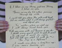 Dr. Who Inspired Custom Modern Calligraphy Wedding Vows