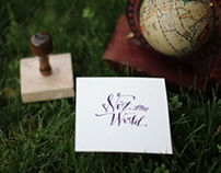 Custom Modern Calligraphy Logo & Rubber Stamp