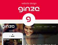 Ginza Polls: website design