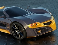 Axanos concept car rendering project