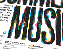 Summer Music Guide Typography