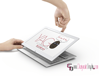 Free Tablet Web Mockup with Hands