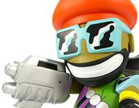 """MAJOR LAZER Kidrobot 8"""" Mascot"""
