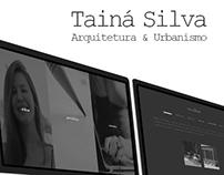 Tainá Silva - Arquitetura & Urbanismo Website