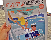 New York Observer Cover: Candace Bushnell