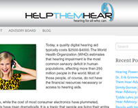 HelpThemHear.org Logo Design by DerrickDouglassDesigns