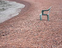 Empty Chair on Pebble Beach