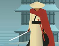 Last Samurai: Art Deco Poster