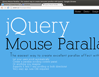 jQuery Mouse Parallax, jQuery plugin scrolling website