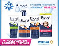 Walmart / Biore Geotargeting Ad Units