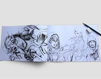 A4 Drawing Book Mockup