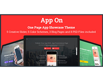 App On -One Page App Showcase Manager Theme