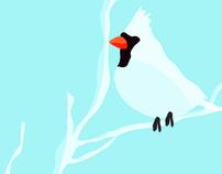 Deer & Birds Poster