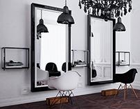 conceptual design of the hair studio