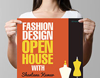 Fashion Design Open House Poster