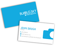 Bubble Sky Photobooth Business Cards