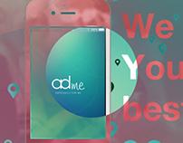 adMe - Store & sale finder app landing page