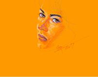 Orange portraits.