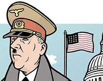 """Hitler in America,"" illo for VILLAGE VOICE"
