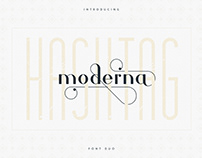 Hashtag Moderna font duo | free font