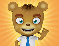 TV Reporter Bear Character