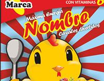 personaje para packaging de cereales