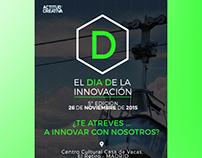 diseño cartel evento innovación