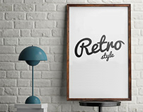 Retro Style Frame Poster Mockup