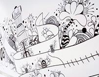 """Ilustração """"Das coisas feitas por aí"""""""