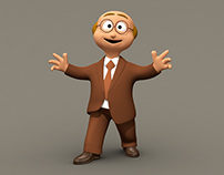 Cute Business Man - Low Poly Character