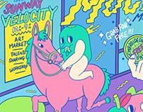 Machi Mochi Market Poster Design