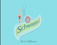 a moving poster for schweppes