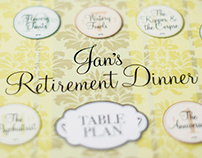 Retirement Party Design & Artwork
