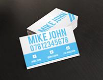 Blue Steel Business Card