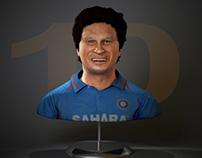 Sachin Tendulkar Sculpt
