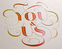 You & Us Hand Lettering