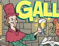 """Alchemist,"" beer label for BIERE GALLIA, Paris"