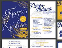 Francis + Kristine Wedding Invitations