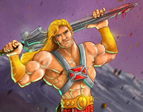 He-Man Illustration on iPad with Video