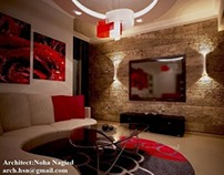 living room -red
